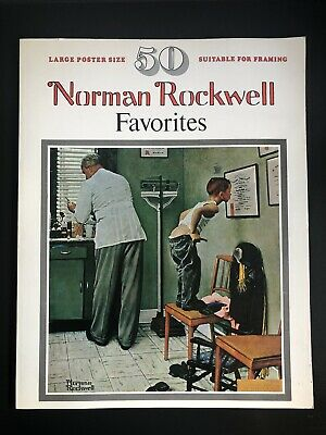 $ CDN22 • Buy Norman Rockwell Favorites Coffee Table Book 50 Large Poster Size Frameable Vtg
