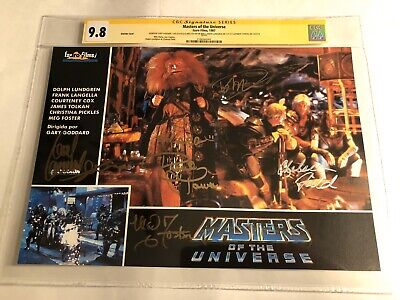 $1275 • Buy CGC 9.8 SS Masters Of The Universe Lobby Card Signed By Lundgren +4 MOTU 9x13