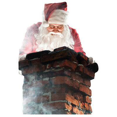 £31.91 • Buy SANTA CLAUS IN CHIMNEY Lifesize CARDBOARD CUTOUT Standup Standee Christmas F/S