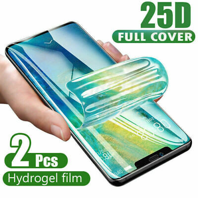 £2.89 • Buy 2× For IPhone 12 11 Pro XS XR 7 8 Plus Screen Protector 25D Soft Hydrogel Film
