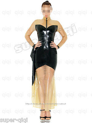 $179 • Buy 100% Latex/rubber .4mm Full Length Dress Suit Catsuit Gothic Fashion Bow Costume