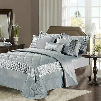 $ CDN80.95 • Buy Sequin Velvet Quilted Bedspread Set Bed Throw Comforter Single Double Super King
