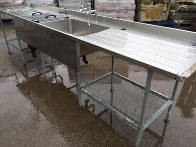 £125 • Buy S/ Steel Sink Unit / Catering Double Sink  / Ideal For Outdoor Kitchen /BBQ Unit