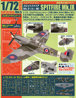 AU28.68 • Buy F-toys 1/72 Scale Full Action Vol. 5 Supermarine Spitfire Mk. IX Fighter