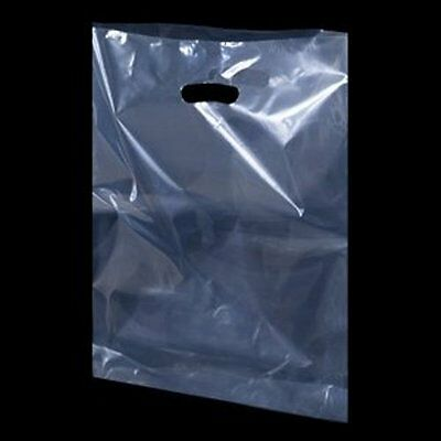 Clear Plastic Handle Polythene Biodegradable Carrier Bags Retail Trade Show  • 6.99£