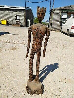Sale Sussex Chainsaw Wood Carving Groot Home  Garden Rustic Sculpture Decoration • 180£