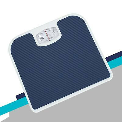 £11.69 • Buy Mechanical Dial Bathroom Scales Weighing Scale Body Weight White Blue 130kg