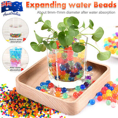 AU8.76 • Buy 50000pcs Crystal Water Balls Jelly Gel Beads For Vases Orbeez Colorful/Clear AU