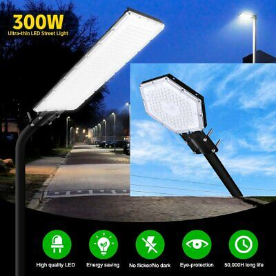 Mains LED Street Light 300W Waterproof Outdoor Garden Wall Street Road Park Lamp • 18.99£