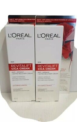 L'Oreal Revitalift  Repair Anti-Wrinkle Cica Cream With Centella  40ml X 2 Tubes • 10.99£