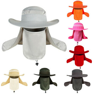 $11.39 • Buy Outdoor Protection Ear Face Flap Neck Cover Sun Cap Fishing Unisex Bucket Hat US