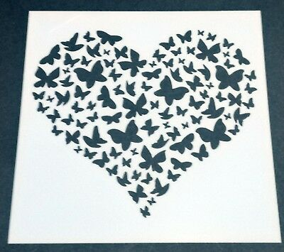 £2.49 • Buy Butterfly Heart Mixed Media Stencil Mask Template  – BNIP & Free P&P