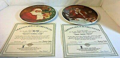 $ CDN32.18 • Buy Authenticated Norman Rockwell Collector Plate Lot Of 2