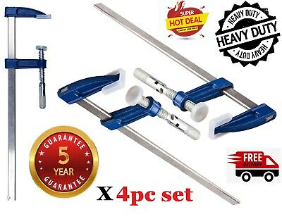 F Clamps Bar Clamp Brick Profile Clamp 300x50mm 12  Long Wood Working Clamps 4pc • 16.95£