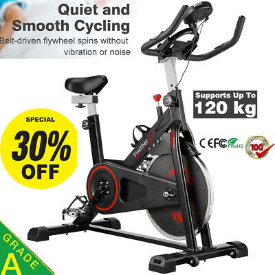 Exercise Bike Cycling Bicycle Cardio Fitness Workout With Adjustable Resistance • 169.99£