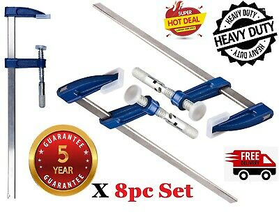F Clamps Bar Clamp Brick Profile 300 X 50mm 12  Long Wood Working Clamps 8pcs • 29.95£