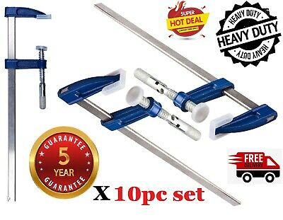 F Clamps Bar Clamp Brick Profile Clamp300x50mm 12 Long Wood Working Clamps 10pcs • 32.95£