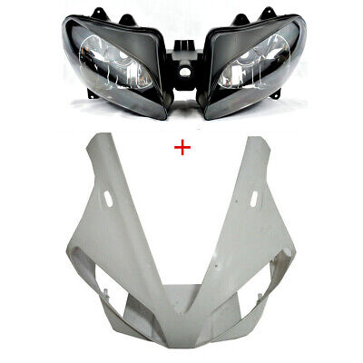 $129.37 • Buy Unpainted Upper Front Fairing Cowl Nose Headlight For Yamaha YZF R1 2000 2001