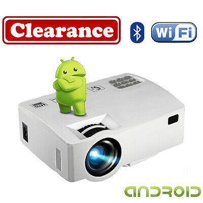 AU149.99 • Buy 4K WiFi Android 6.0 LCD Projector HD 1080P Multimedia Home Cinema Theater HDMI