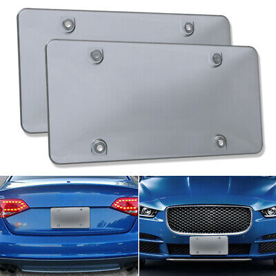 $10.99 • Buy 2x Smoked Bubble License Plate Cover Shield Tinted Plastic Tag Protector