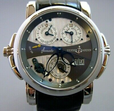 Ulysse Nardin Sonata Cathedral Dual Time Gold Auto 42mm Mens Watch 660-88/212 • 19,999£