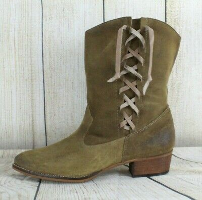 $40 • Buy MTNG Originals Distress Pull-on Side Lace-Up Boots Size 10