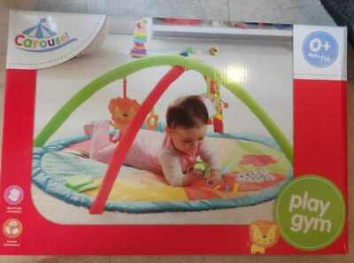 £19.99 • Buy Brand New Carousel Baby Play Gym Mat With Hanging Toys Stimulating 0+ Months