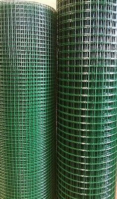 Pvc Coated Galvanised Welded Wire Mesh -  Poultry Rabbit Aviary Fencing Mesh • 89.95£