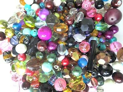 Glass Beads - Mixed Colours - Assorted Styles - 4mm - 25mm - Pack Of 50gms • 2.95£