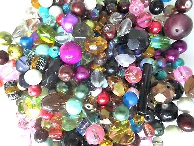 Glass Beads - Mixed Colours - Assorted Styles - 4mm - 30mm - Pack Of 50gm • 2.85£