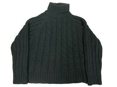 $23.99 • Buy Cherokee Women's Pullover Cable Knit Turtle Neck Sweater Green Size: XL