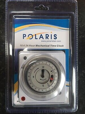 Polaris Time Clock 24-Hour APT Immersion Boiler Timer Switch Heating • 18.89£