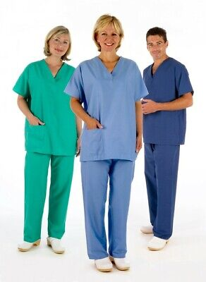 £9.77 • Buy NHS Medical Compliant Reversible Scrub Suit, Tunic &/OR Trousers Hospital Dental