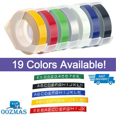 3 Roll 3D Plastic Embossing Label Maker Tape 9mm 3m Compatible DYMO 1610 12965 • 15.78£
