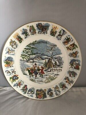 Vintage, Coalport, Advent, Christmas Plate, In Good Condition • 20£