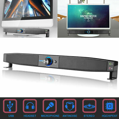 3D Surround Speakers Sound Bar System Home Music Player Sound For Laptop N5J7 • 20.97£