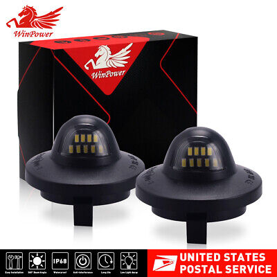 $12.99 • Buy 2pcs For Ford F150 F250 F350 LED License Plate Light Bulbs Assembly Replacement