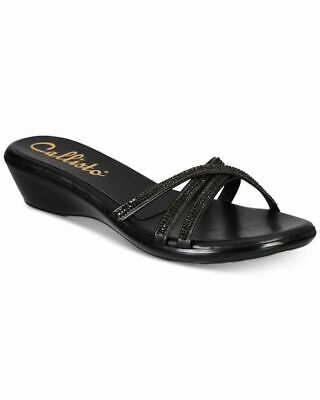 $12 • Buy Callisto Womens Shalome Open Toe Special Occasion Slide Sandals, Black, Size 8.0