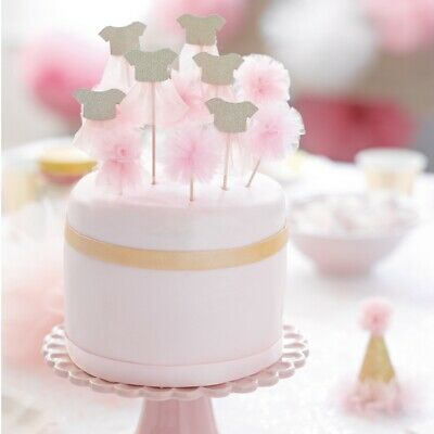 Pink Tutu Cupcake Toppers - Ballet Themed Birthday Party: Pack Of 12 • 6.50£