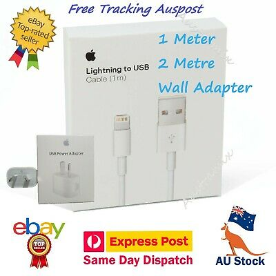 AU9.90 • Buy Genuine 1M 2M Apple IPhone Lightning Charger Cable IPhone X 8 7 6 11 Pro  IPad