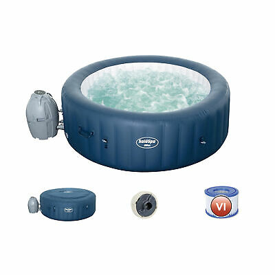 $656.55 • Buy Bestway SaluSpa Milan Airjet Plus Round Inflatable Hot Tub Spa, Blue (Open Box)