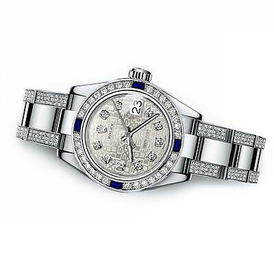 $ CDN12065.93 • Buy Women's Customized Rolex Watch  31mm Datejust Stainless Steel Diamond Dial With