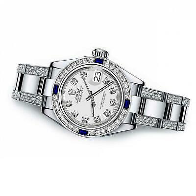 $ CDN12065.93 • Buy Women's Customized Rolex Watch  31mm Datejust Stainless Steel White Color Dial W