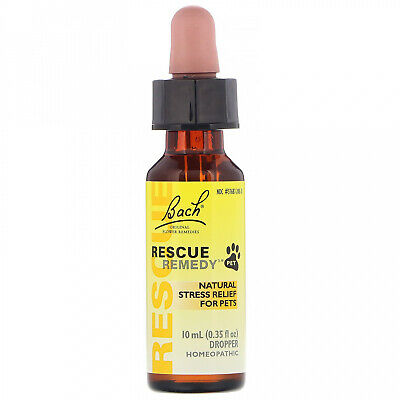 Bach, Original Flower Remedies, Rescue Remedy Pet, Natural Stress Relief, 0.35 • 16.23£