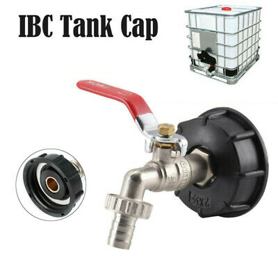 IBC Tank Adapter S60X6 To Brass Drain Tap With 1/2  Hose Fitting Oil Fuel Water • 9.99£