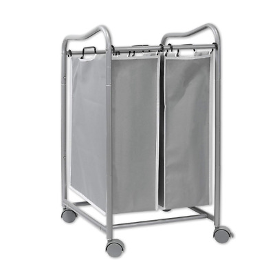 $36.99 • Buy Rolling Laundry Hamper Clothes With Wheels Sorter Cart Heavy Duty 2 Bag
