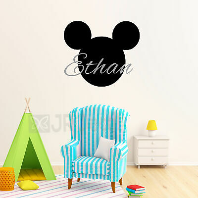 Mickey Mouse Wall Sticker, Personalised Name Sticker, Nursery Stickers, Wall Art • 7.19£