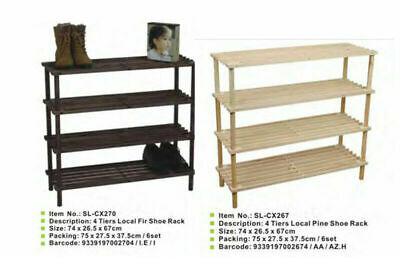 AU26.99 • Buy 2 - 3 - 4 Tier Wooden Shoe Rack Shoe Cabinet Storage Keep Shoes In Managed Way