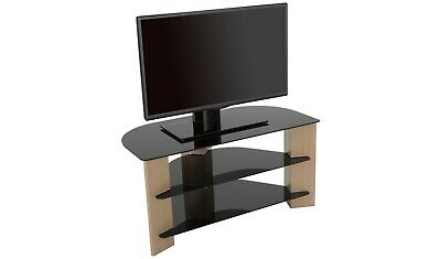 AU124.84 • Buy AVF Up To 42 Inch TV Stand - Black Glass And Oak Effect