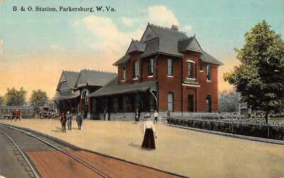 $14 • Buy Parkersburg West Virginia Baltimore And Ohio Train Station Postcard AA9331